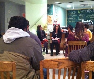 """Discussing """"Race in the Museum.""""Photo courtesy: Seattle Emerging Museum Professionals."""