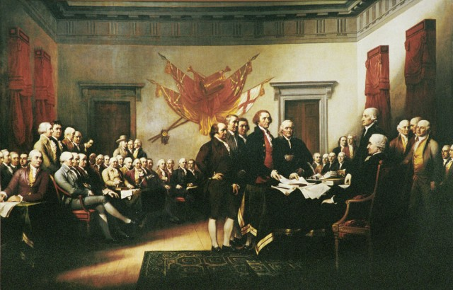 "John Trumbull ""Declaration of Independence, July 4, 1776"""