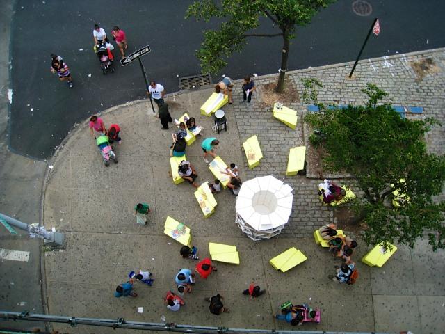 Uni at Corona Plaza, Queens, NY, 2012. Photo courtesy: Leslie Davol.