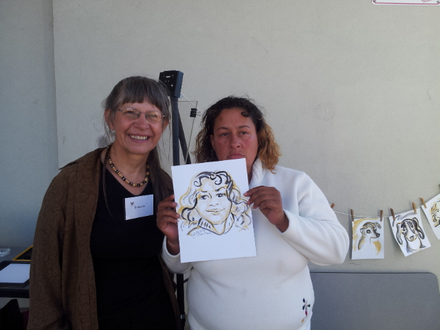 HPC guest with artist Ellen Clark. Photo Credit: Mary Jo Maute.