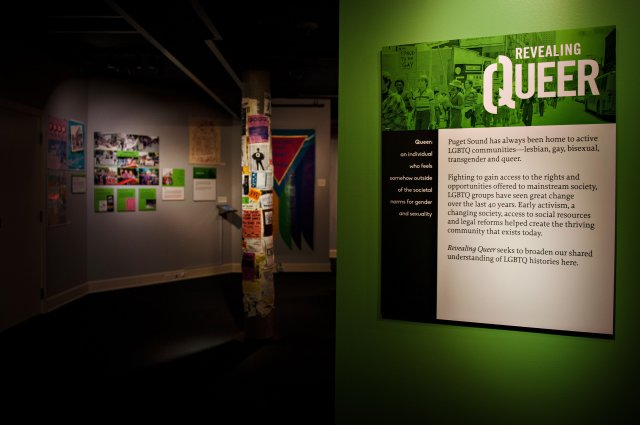 Entry to Revealing Queer Exhibit. Photo courtesy of Barbie Hull Photography.