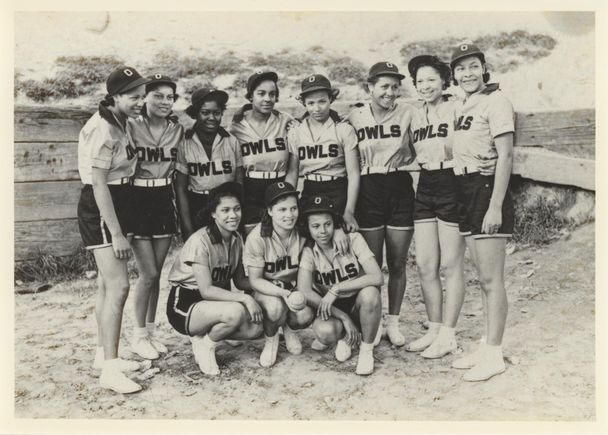 The Owls Club team was 1938 state softball champion and 1939 Seattle champ - featured in the exhibit Pitch Black at the NAAM.