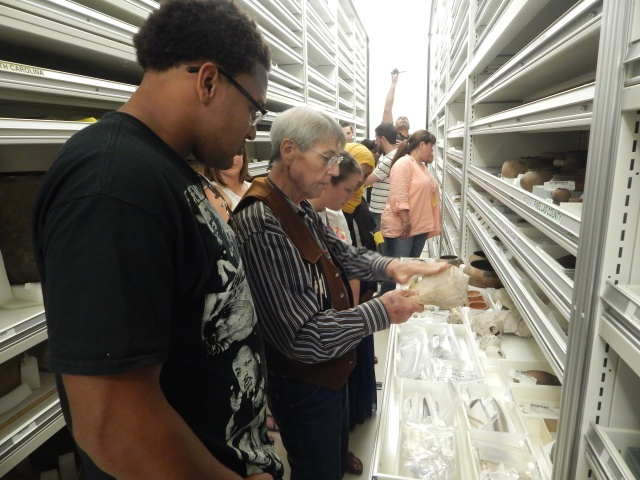 2013 Museum Fellows at the NMAI storage facility in Suitland, MD.