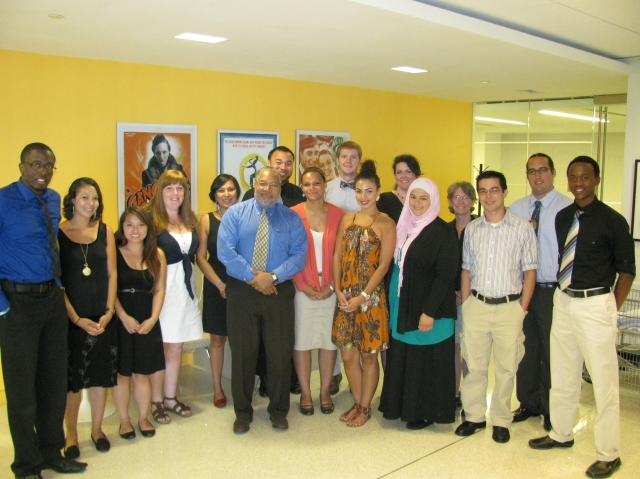 2012 Museum Fellows meet with founding director of National Museum of History and Culture Dr. Lonnie Bunch.